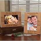 Personalized Always Kiss Me Goodnight Wooden Picture Frame