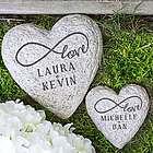 Infinity Love Couple Heart Garden Stone