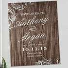 Personalized Wood Carving Wedding Save the Date Magnets