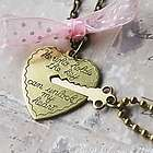 Key to My Heart- Heart and Key Couple's Necklace