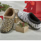 Velda Animal Print Slippers