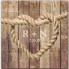 Knot Rope Brown Wood Background Canvas Sign