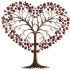 "Tree of Love 30"" Metal Bubble Wall Art"