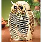 Snow Owl Figurine Fan