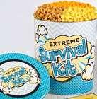Extreme Survival Kit 6.5 Gallon 3-Flavor Popcorn Gift Tin