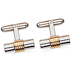 23K Rhodium Electroplated Cufflinks
