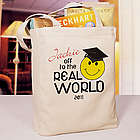 Personalized Off to the Real World Canvas Tote Bag