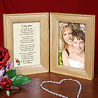 To My Mom Natural Wood Bi-Fold Personalized Picture Frame