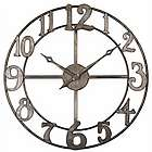 Antique Silver Finish Clock
