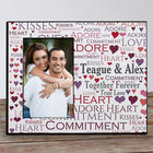 Personalized Loving Couple Word Art Printed Frame