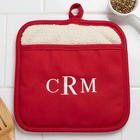 Personalized Monogram Pot Holder Hot Pad Mitt