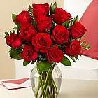 One Dozen Long Stemmed Red Birthday Roses