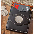 Personalized 2-Toned Top Grain Leather Wallet