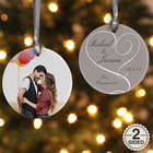 Personalized Double Sided Engagement Photo Ornament