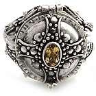 Crusader's Secret Citrine Cross Ring