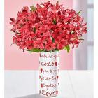 Valentine's Day Messages from the Heart Red Roses Bouquet