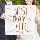 Personalized Best Day Ever Wood Art Sign Style Guest Book