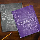 Hidden Name Personalized School Notebooks