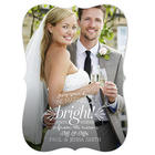 Personalized Be Married and Bright Couple Christmas Cards
