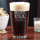 USA Made Personalized Pint Glass
