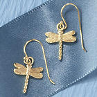 14 Karat Gold-Plated Dragonfly Earrings