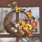 Cornucopia Wreath with Color Changing Lights
