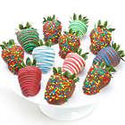 12 Happy Birthday Chocolate Covered Strawberries