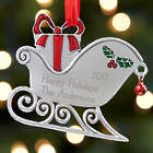 Personalized Metal Santa's Sleigh Ornaments