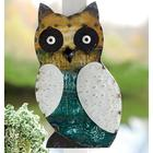 Reclaimed Metal Owl Wall Plaque