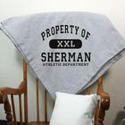 Personalized Property Of Athletic Fleece Blanket
