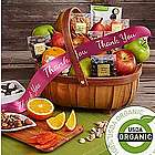 Favorite Organic Fruits and Snacks Thank You Gift Basket