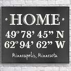 Personalized Home Coordinates 18x24 Canvas Print