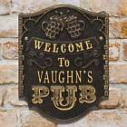 Customized Pub Style Welcome House Plaque
