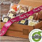 Organic Snacks Gift Box with Thank You Ribbon