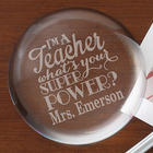 Teacher Super Power Personalized Crystal Paperweight
