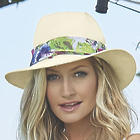Women's Floral Band Panama Hat