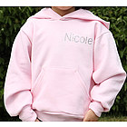 Rhinestone Name Pink Hooded Sweatshirt