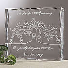 Our Family Tree Personalized Clear Block