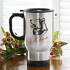 Personalized Stainless Steel Dog Breed Travel Mug