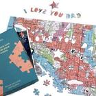 Personalized Father's Day Map Puzzle