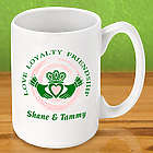 Personalized Claddagh Irish Coffee Mug