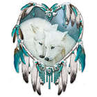 Native American-Style Kindred Spirits Dreamcatcher Art