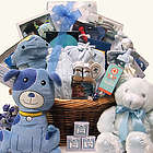 Grand Welcome Baby Boy Gift Basket