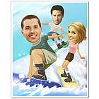 Snowboarding in Summer Caricature Print from Photos