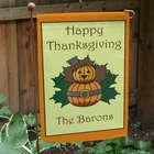 Personalized Thanksgiving Garden Flag