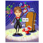 The Great Magician Personalized Caricature Print from Photo