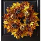 Autumn Faux Pumpkin Wreath