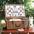Dorset London Picnic Basket for Four with Picnic Blanket