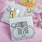 Wedding Rings Glass Photo Coaster