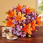 Brilliant Autumn Lily Medley Bouquet with Cookies